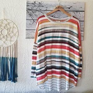 Hyped Unicorn Oversize Striped knit dolman  Shirt